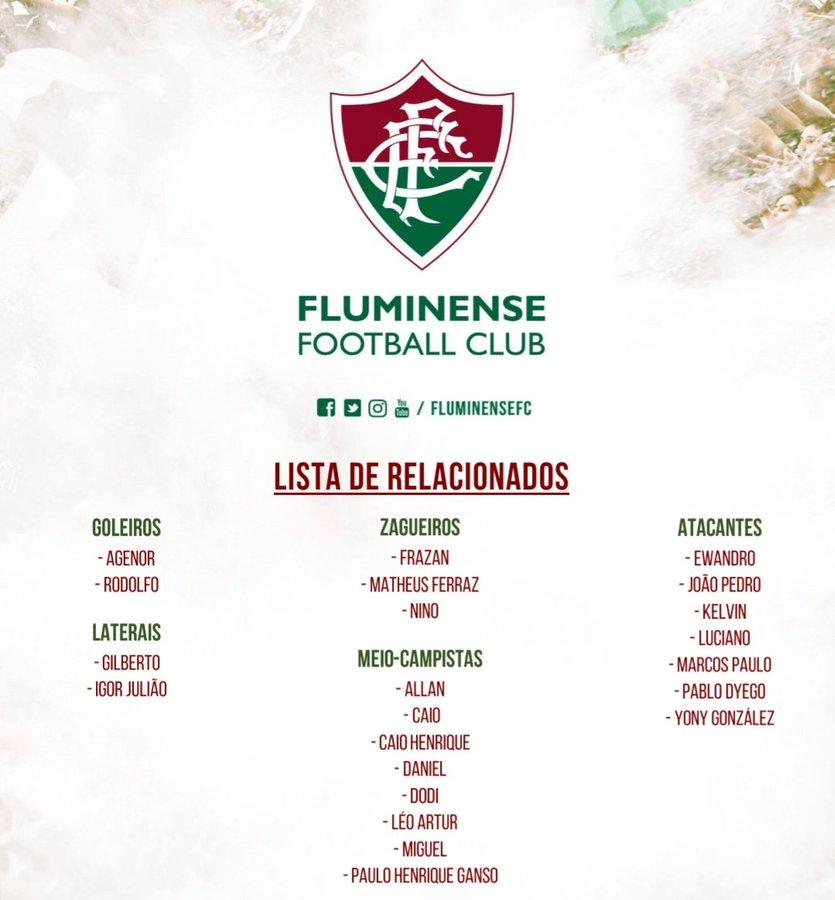 Fluminense x cruzeiro hoje