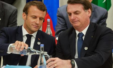 bolsonaro e macron g20