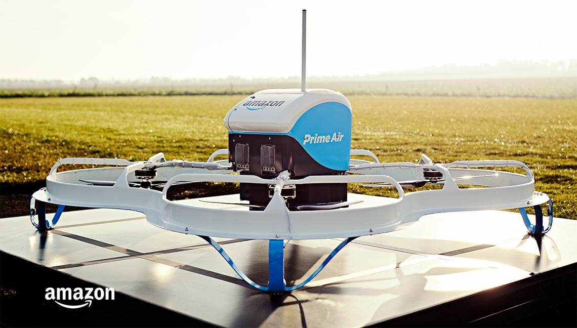 drone autonomo entrega amazon
