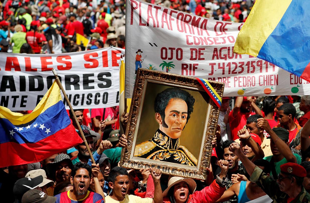 protestos a favor do governo maduro
