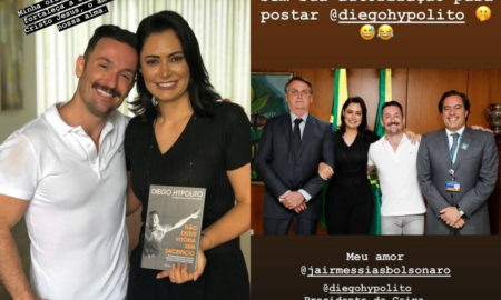 michele bolsonaro elogia diego hypolito