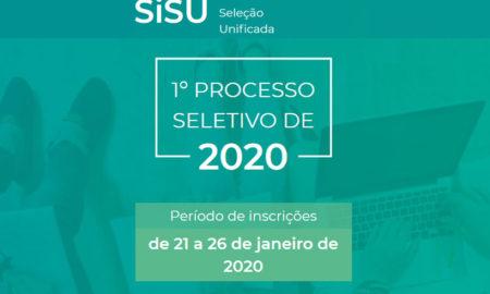 processo seletivo sisu 2020 inscricoes